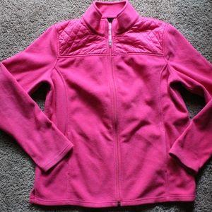 Talbots pink zip up fleece M